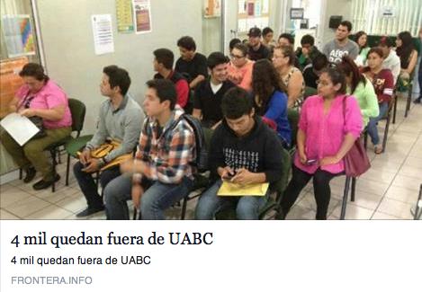 4 mil quedan fuera de UABC