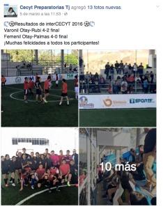 Inter CECYT 2016 Futbol rapido varonil y femenil.