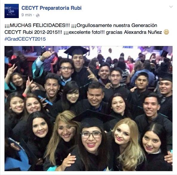 ¡FELICIDADES A NUESTROS GRADUADOS 2012-2015!